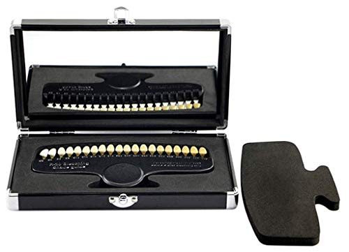 QMZDXH Nuancier Dentaire, 20 Couleurs Blanchiment des Dents À Froid Précision Colorimétrique avec Emballage Premium Miroir Kits
