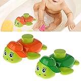 Juguete de baño de bebé, tortuga con rueda de agua Squirting spray tierra niños regalo educativo, 1 pieza color aleatorio excelente calidad y popular