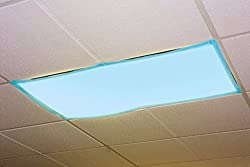 Educational Insights Fluorescent Light Filters (Tranquil Blue) - Best CLassroom Light Covers