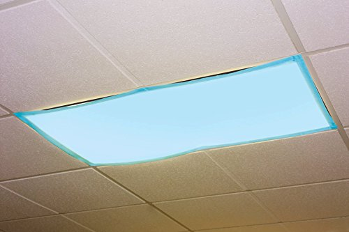Educational Insights The Original Fluorescent Light Filters in Tranquil Blue 4-Pack, Reduce Glare & Flicker, Easy Setup for Office, Hospitals, Home & Classrooms
