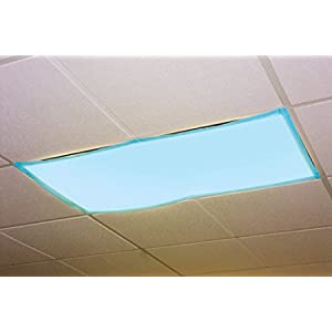 Educational Insights The Original Fluorescent Light Filters: Tranquil Blue 4-Pack, Fluorescent Light Covers, Easy Install for Classrooms, Office, Hospitals & Home, Teacher Classroom Decor