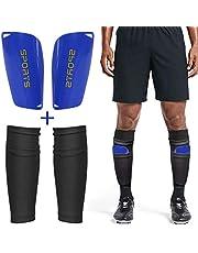 Dokpav Soccer Shin Guard leggings sokken + leggings kunststof tas voetbaluitrusting comfort volwassenen tieners kinderen voetbalwedstrijden beginners prestatiesporters