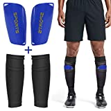 DORYUM Soccer Shin Guard Shin Pads Shin Guard Sleeves, EVA Cushion Protection Football Shin Guards for Kids Youth Adult, Calf Sleeves Soccer, Soccer Equipment for Football Games Beginner (S-Child)