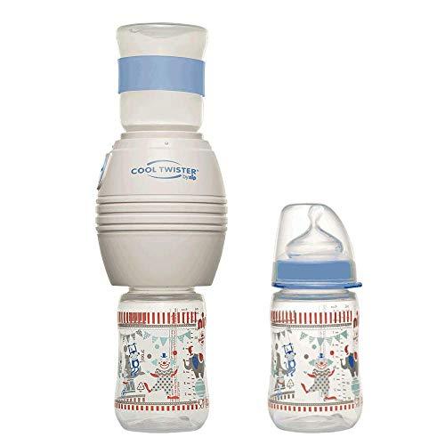 nip Fläschchenwasser-Abkühler Cool Twister + nip Weithalsflasche mit Anti-Kolik Sauger:BPA Frei, ab 0 Jahren