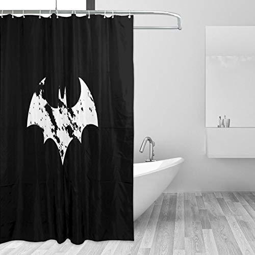 Why So Serious Joker Batman Duschvorhang aus wasserdichtem Polyester   Edelstahlreifen   Haken zum Aufhängen inklusive, 167,6 x 182,9 cm