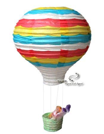 Yudu süß Heißluftballon Reispapier Lampion Lampenschirm (Modell 13)