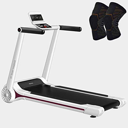 MG REAL Laufband Für Home Gym 220 Lbs Gewicht Kapazitäts-Bewegliche Trainingsmaschine Motorlaufausrüstung Mit Pulley,M Size Knee Pads