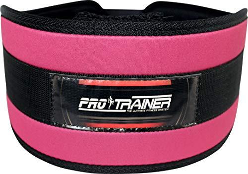 Cinturão Rosa fivela Musculação Crossfit Academia Strap Luva (330, M)