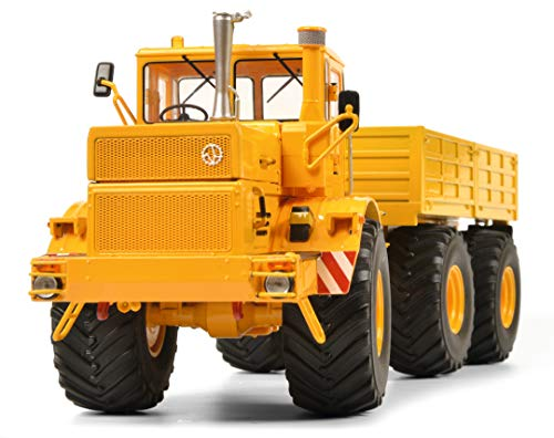 Schuco 450770800 Kirovets K-700 T, Traktor mit Anhänger, Modellauto, 1:32, gelb