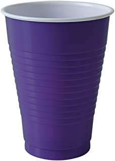 Party Dimensions 81232 20 Count Plastic Cup, 12-Ounce, Purple