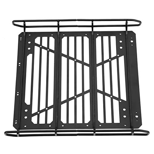zhoul RC Car Metal Luggage Rack Frame Upgrade Accessory Fit for Traxxas TRX6 1/10 RC Car Model (Black)