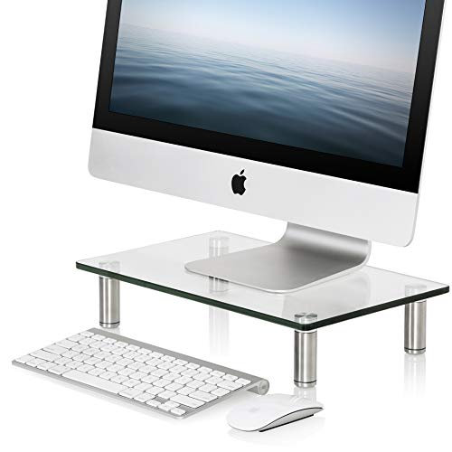 FITUEYES Clear Computer Monitor Riser Save Space Desktop Stand for Xbox One/Component/Flat Screen...