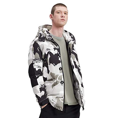Jas van katoen voor heren, zomerjas met capuchon, licht, paar, lange mouwen, dikke jas, camouflage, warme stof