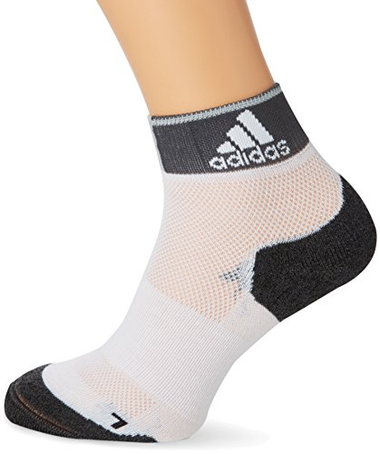 adidas Lauf/Knöchelsocken Running Energy dünne gepolsterte Socken, White/Dark Grey Heather, 46-48