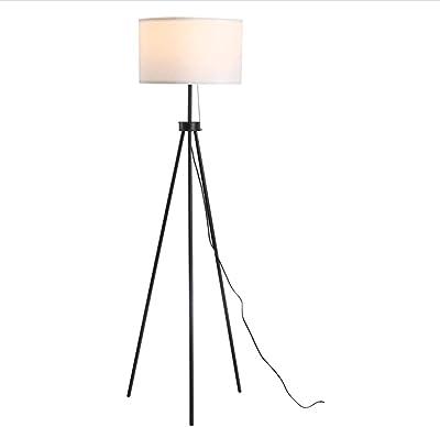 JLTX Lampadaire à Trépied à LED, Lampes Hautes sur Pied, Abat-Jour Cylindrique Et éclairage Standard à Interrupteur à Tirage Pratique, pour La Lecture De La Chambre à Coucher du Salon