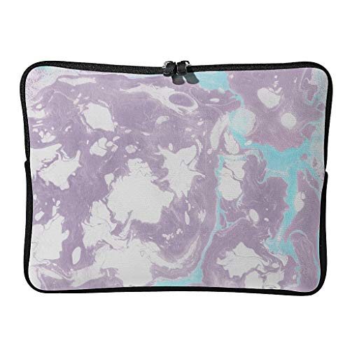 Standard Marble Texture Laptop Bags Slim Scratch-Resistant - Cool Tone Laptop Suitable for School White 17 Zoll