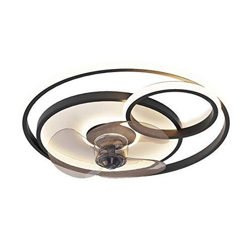 Ventilador de Techo con Luz LED Moderna 50W Ventilador De Techo Con Lámpara Control de APP Regulable Luz Ventilador Velocidad Del Viento Ajustable Ø55cm Lámpara de Techo para Cuarto de los Niños VOMI