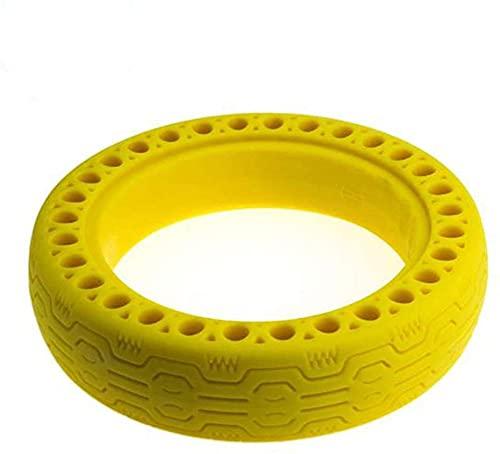 HZWDD Ruedas Macizas M365,Ruedas Macizas para Patinete Electrico Rueda de 8.5Pulgadas, Neumáticos de Reemplazo, Rueda de Repuesto Antipinchazo Compatible Scooter Electrico Yellow