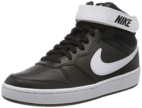 Nike Court Borough Mid 2 (GS), Scarpe da Basket Uomo, Nero (Black/White 010), 36.5 EU