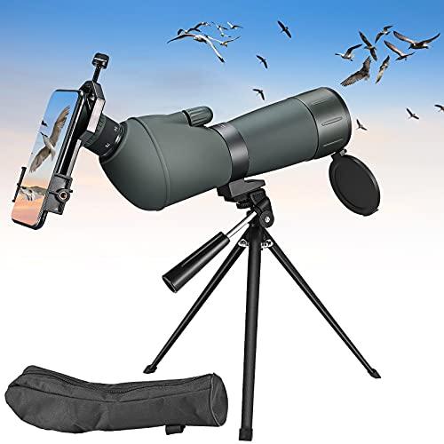 TTLIFE 20-75x70 Spektiv, Wasserdicht und Anti-Beschlag-Zoom-Spektiv mit Stativ, Smartphone-Adapter und Tragetasche für Jagd, Astronomie und Vogelbeobachtung