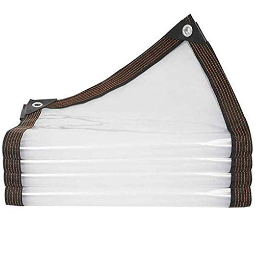 QIAOH Lona Impermeable Transparente 4x5m, Impermeable Lona Cubierta, Lona Invernadero Pesada Cubierta Transparente Tela Impermeable, Lona De PVC para Techo/Camping