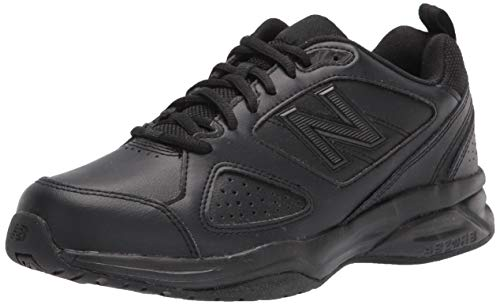 Black Leather Cross Trainer Shoes for Men Casual