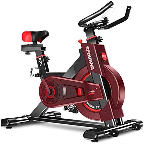 XJWWW-URG Ciclismo bicicleta estacionaria Bicicleta con 40 libras del volante, velocidad de los sensores del corazón, pantalla LED, Bicicleta de ejercicio profesional for el hogar y la gimnasia Uso XJ