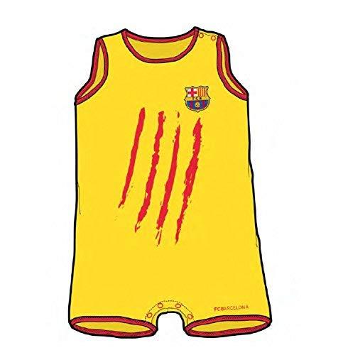 Strampler Baby FC Barcelona Senyera ohne Ärmel Gr. 12Monate