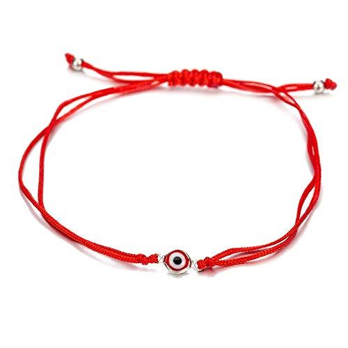 Pulseras De Hechizo Turco De Hilo Negro para Protección Suerte Kabbalah Ajustable Tejido A Mano Hilo De Cordón Rojo Amuleto Bebé