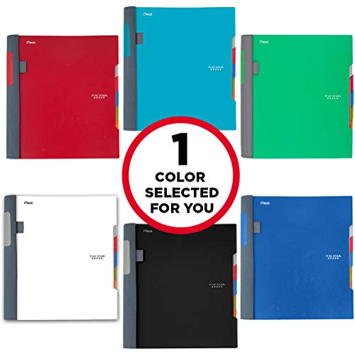 "Five Star Advance Spiral Notebook, 5 Subject, College Ruled Paper, 200 Sheets, 11"" x 8-1/2, Color Selected For You (06326) Photo #4"