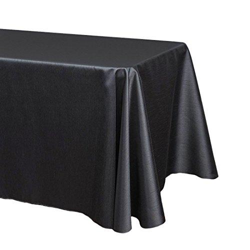 LinenTablecloth 90x 132in. Tovaglia Seta Shantung Nero