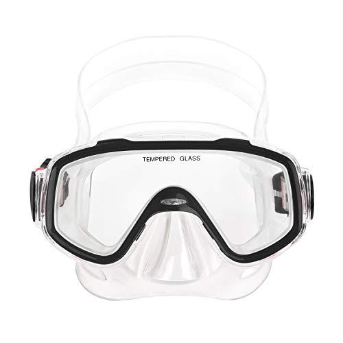 YSXY Kinder Schwimmbrille Taucherbrille UV Schutz & Anti-Fog Schwimmen Brille Schutzbrillen für Mädchen und Jungen, Verstellbares Silikonband (Schwarz)