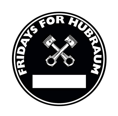 Fridays for Hubraum Aufkleber Sticker Schwarze Umwelt-Plakette JDM 2 Stück Feinstaub