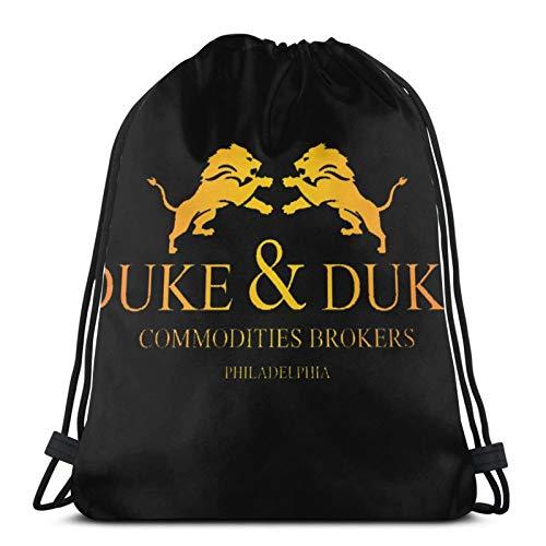 ANGSHI6 Christmas Gifts Bolsas de Cuerdas Trading Places Duke and Duke Mochila Deportiva clásica Unisex Bolsa de Viaje Bolsa de Almacenamiento