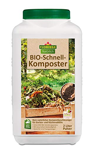 Florissa Natürlich 58625 BIO Schnell-Komposter | Kompostbeschleuniger unterstützt den Verrottungsprozess für Humus in 3-6 Monaten | biologisch GÄRTNERN Gütesiegel, Braun