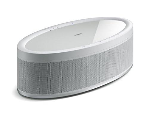 Yamaha MusicCast 50 Musikbox weiß – Multiroom Stereo-Lautsprecher kompatibel mit Alexa Sprachsteuerung - bequem Musik streamen – WLAN-Speaker mit raumfüllendem Klang