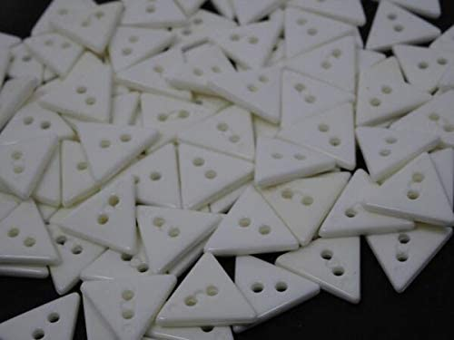 Supplies For Vintage White SEAL limited product Triangular Lot 2-Hole of Fresno Mall Buttons 15mm