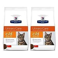 Multicare Hill's Prescription Diet Feline C/d Urinary Care Dry Cat Food - Chicken 2x1.5kg, Tasty, Lo...