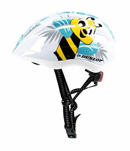 Kinder Fahrradhelm Dunlop für Radfahrer, Skater, Eisläufer und Skateboarder, entspricht DIN EN 1078, lieferbar in verschiedenen Designs, Biene / Flammen / Herz-Schmetterling / Blume / Skull / Stars & Stripes (Biene)