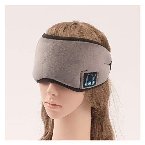 Bluetooth 5.0 Musik Augenmaske Wireless SchlafkopfhöRer 3d Einstellbares Schlafmaske für Flugzeug Schlafen Reisen Entspannung (Color : Gray)
