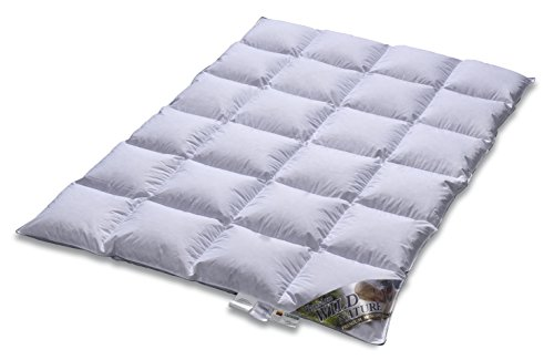 Daunendecke - Daunenbett –EXTRA WARM - TESTSIEGER - Wild Moscovy - 90% Premium Bettdecke - Made in Germany Since 1947-135 x 200 cm