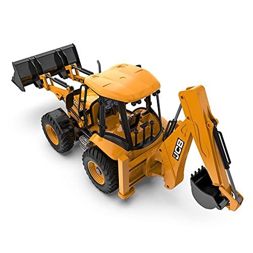 ALYHYB 2 en 1 Vehículo de ingeniería de Control Remoto para niños, 1:20 2.4G Double Head Cargador y Excavadora de Juguete de vehículos de construcción, los Mejores niños