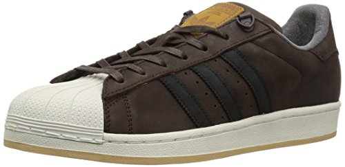 adidas Originals Men's Superstar Sneaker, Dark Brown/Core Black/Dark Brown, 8