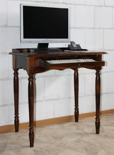 Casa Massivholz Sekretär Kolonialstil Schreibtisch Computertisch braun