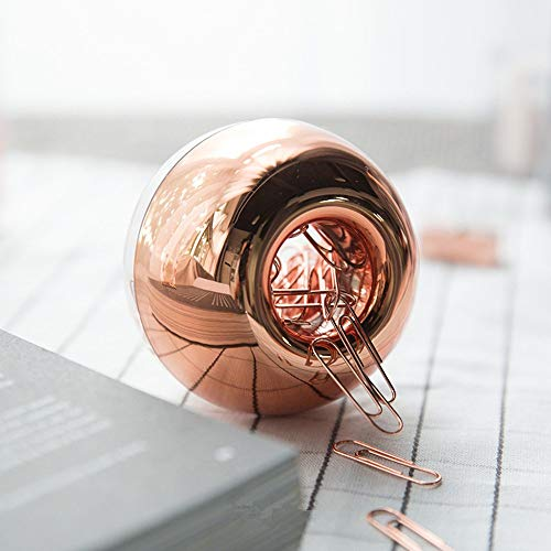 Marble Rose Gold Acrylic Sticky Memo Pad Holder with Rose Gold Paper Clips Holder 100pcs 28mm Rose Gold Paper Clips Rose Gold Modern Desk Organizer Set for School Office and Personal Use Photo #4