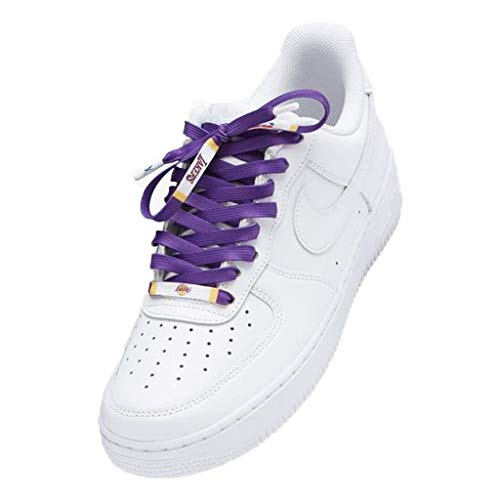"LCS Basketball Team Shoelaces (Medium - 48"", Los Angeles Lakers - Icon)"