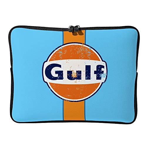 Normal Gulf Racing Laptoptaschen Gemustert Kratzfest - Orange Blau Laptoptaschen Geeignet für Pendler White 17 Zoll