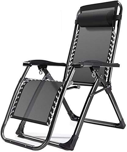 Sillas plegables Salón reclinable sillas de Camping Silla Tumbona Sillón Respaldo la Almuerzo Informal Silla del Patio de jardín Tumbona de Playa Riverside (Color : A)