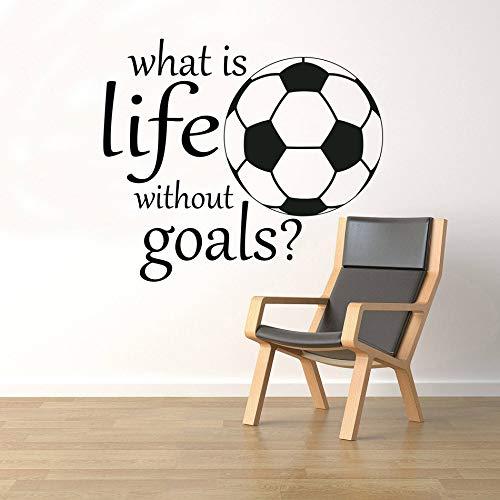 YIYEBAOFU muurstickers, Wat is het leven zonder doel? Muursticker vinyl kunst verwijderbare poster muurschildering sport inspirerende citaat home decorat