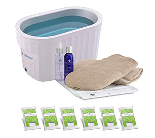 Therabath Professional Paraffin Wax Bath + Hand ComforKit ThermoTherapy Heat Professional Grade TB6 by WR Medical - 6lbs Lavender Harmony